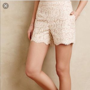 Cartonnier Anthropologie Ivory Blush Shorts